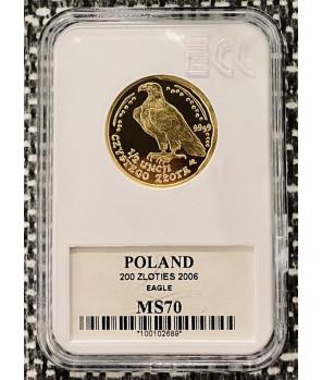 Złota moneta Orzeł Bielik 200 zł 2006