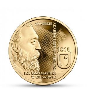Złota moneta 200 zł 200-lecie ASP w Krakowie