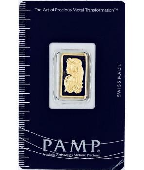 Sztabka złota 2,5 g PAMP Fortuna
