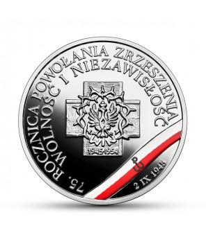 10 zł 75. rocznica powołania Zrzeszenia Wolność i Niezawisłość