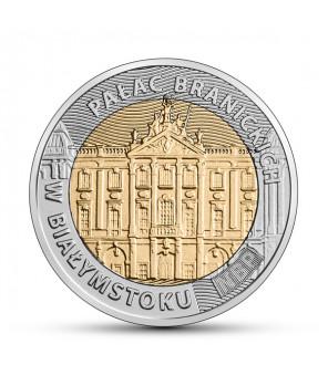 Moneta okolicznościowa 5 zł Pałac Branickich w Białymstoku