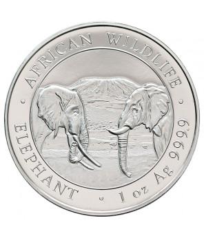 Słonie - Somalia - 1 uncja srebra 2020