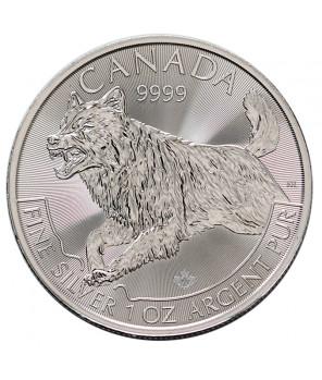 Kanada 5 dolarów Wilk