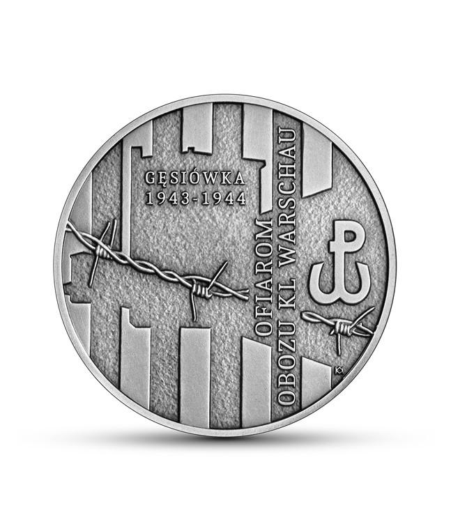 10 zł Ofiarom obozu KL Warschau - moneta kolekcjonerska