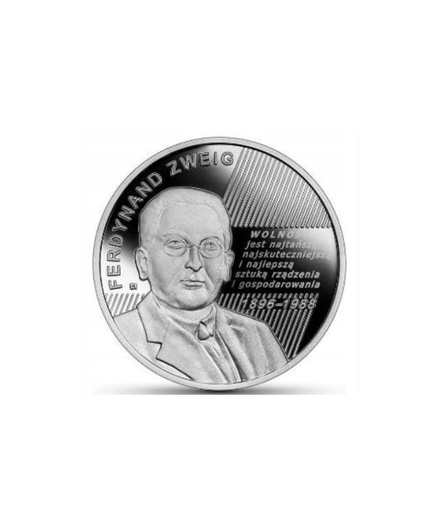 10 zł Ferdynand Zweig - moneta kolekcjonerska NBP 2021