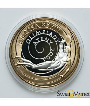 10 zł Igrzyska Olimpijskie Ateny platerowane złotem 2004